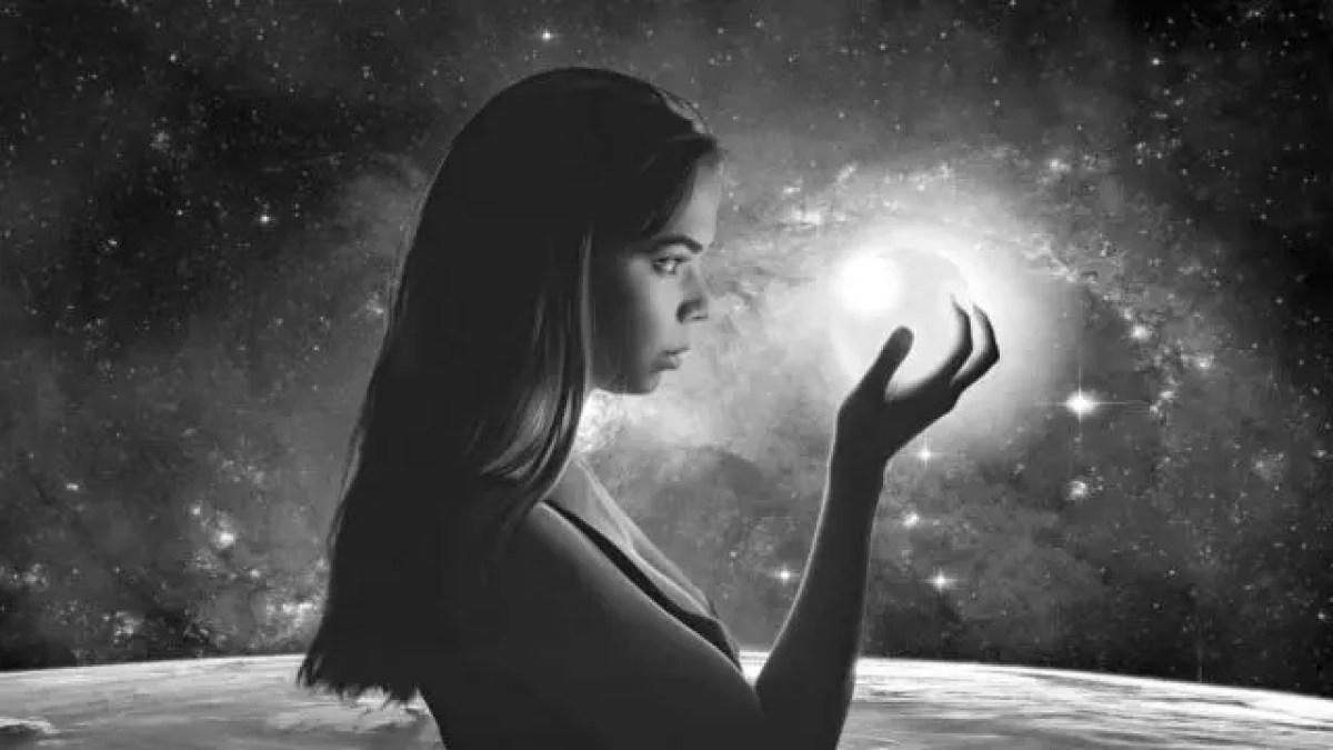女性 宇宙 銀河 光 星 エネルギー