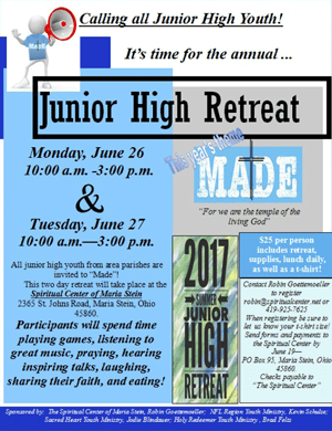 Junior High Retreat Flyer