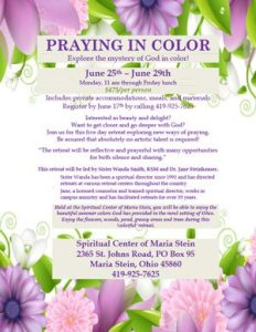 Praying in Color (June 25-29)