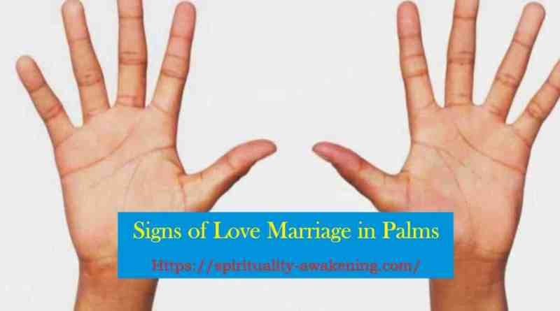 love marriage signs in palms