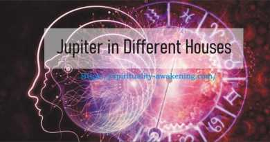 jupiter in Different Houses