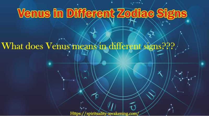 venus in different zodiac signs