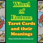 Wheel Of Fortune Tarot Card Tarot Card Meanings Spirituality Awakening