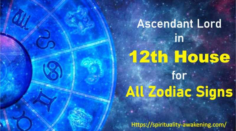 ascendant lord in 12th house, lagna lord in 12th house, 1st house lord in 12th house, first house lord in 12th house, rising sign lord in 12th house,