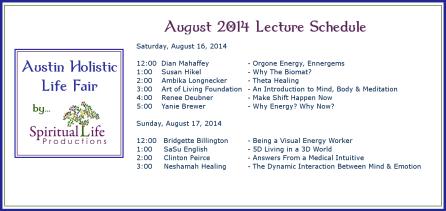 2014 August Holistic Fair Lecture Schedule2
