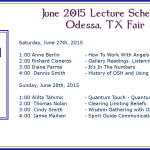 2015 June Odessa Metaphysical Fair Lecture Schedule