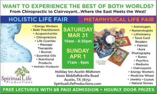 Austin Metaphysical and Holistic Life Expo - March-April 2018