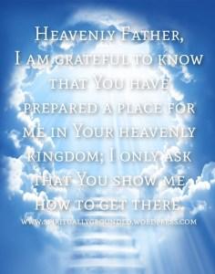 Prayer-My place in Heaven