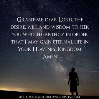 Prayer to find God