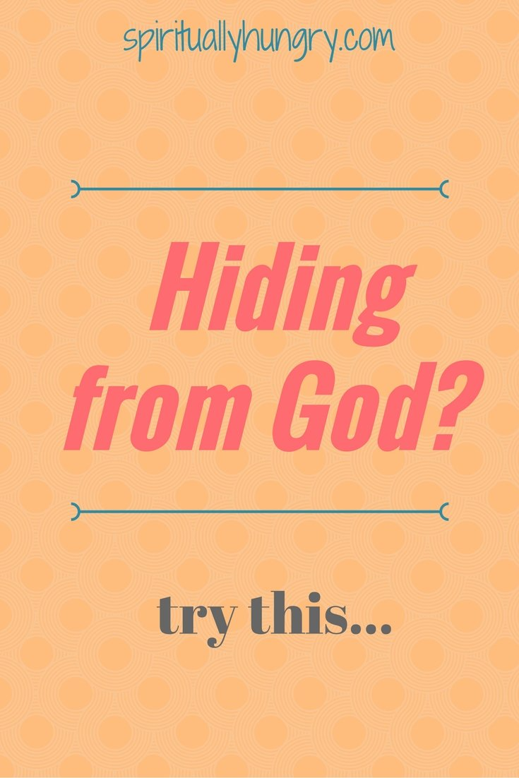 A devotional to help you stop hiding from God. When we are afraid we hide, most Importantly from God. Stop hiding from God by responding to God's loving invitation for you to walk with Him