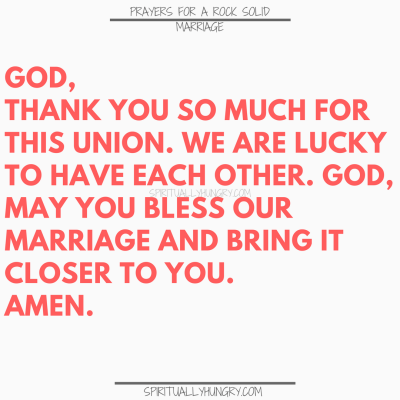 Prayers For A Strong Marriage