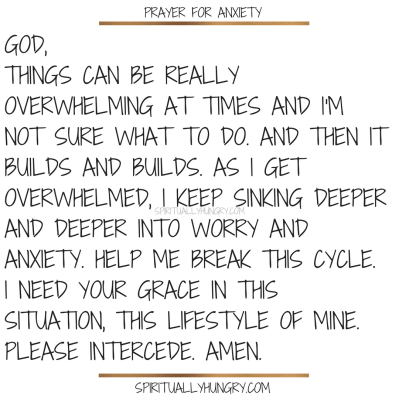 Prayer For Anxiety