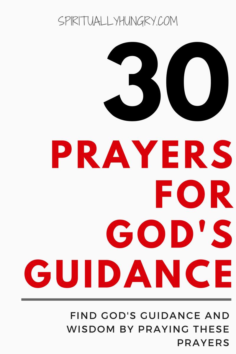 Are you seeking prayer for guidance and wisdom in your life? Well if so, we have a great list of 30 quick prayers, right in the post, that you can utilize to help you glean God's guidance.