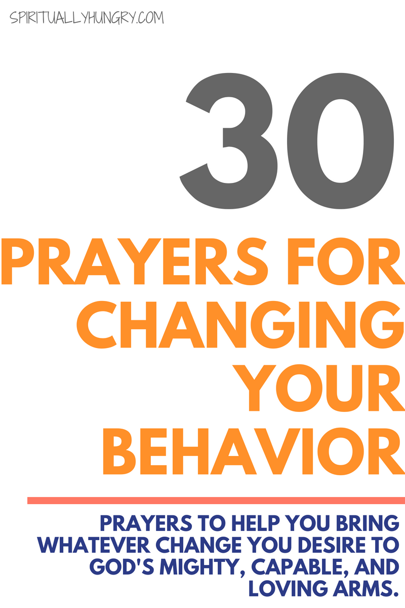 Are you looking for a change? Maybe it's behavioral or trying to change a bad habit. Whatever you are trying to change, prayer for change will only help aid you on your journey towards a different life. Try these 30 short prayers that were created to help you turn to God for change.