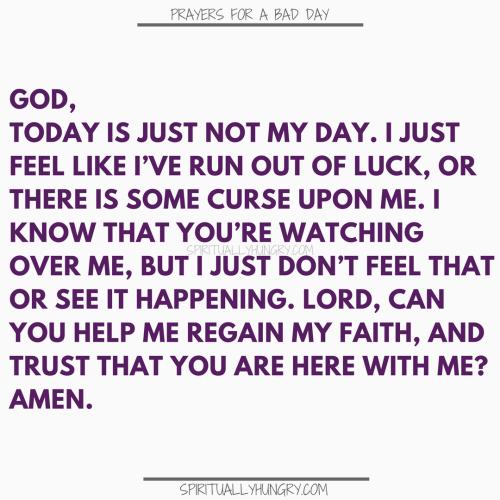 Prayers For A Sucky Day | Prayers For A Sucky Day