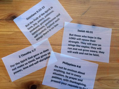 Scripture Memorization | Bible Verse Flash Cards | Bible Verse Gift Idea