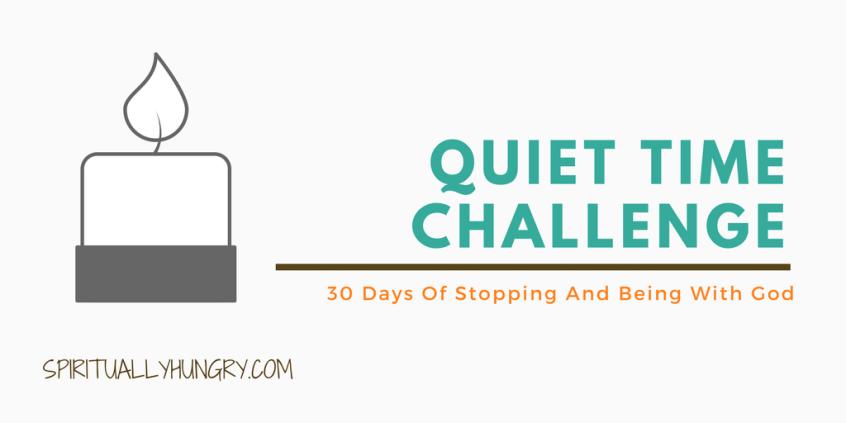 Quiet time, Jesus, Christian Challenge, 30 Day Challenges