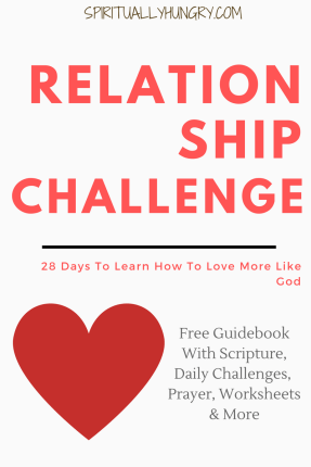 30 Day Challenge, 30 Day Christian Challenges, Relationship Challenge, Jesus