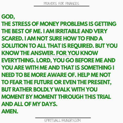 21 Prayers For Finances To Say Right Now - Spiritually Hungry