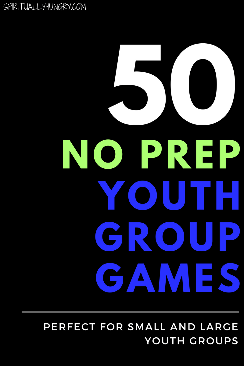 Need youth group games? We have 50 of them, and they are all no prep youth group games! Perfect for groups as little as 3 and as big as 100. Check out these 50 no prep youth group games that are not dodgeball!