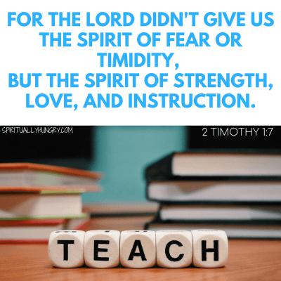 Bible Verses For Teachers
