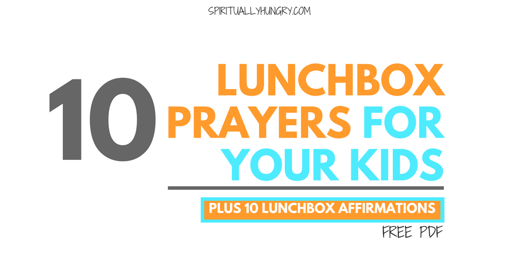 10 Lunch Prayers For Kids With Free Printable