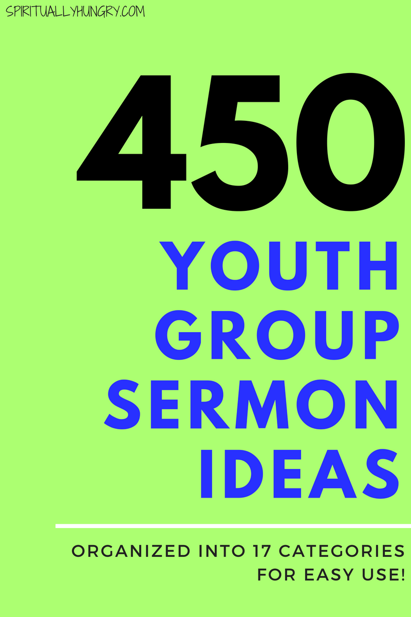 Are you looking for some great ideas for youth sermons you could use at youth group? We have come up with a massive organized list to help you pick the best youth group lesson for your youth ministry.