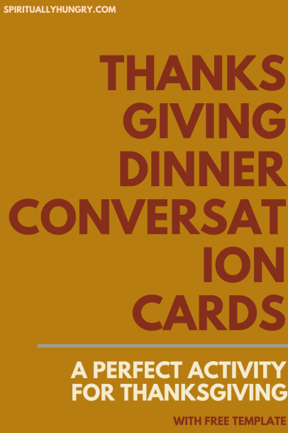 Thanksgiving Discussion Cards | Thanksgiving Conversation Starters