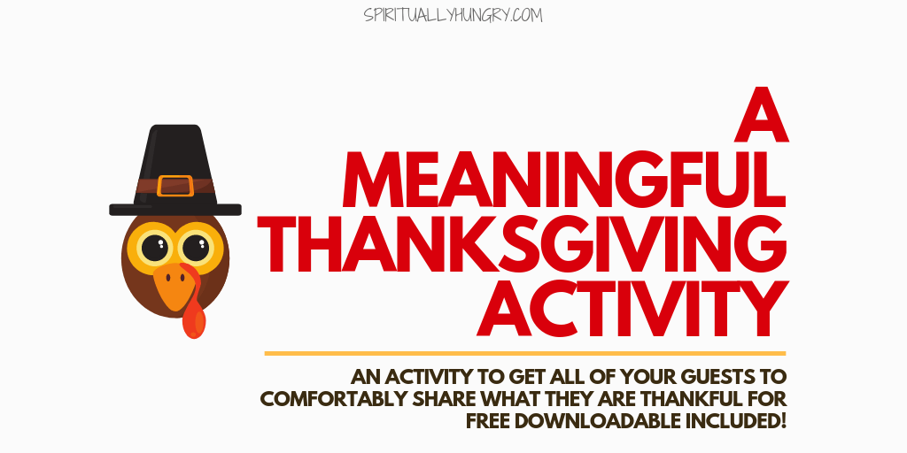 A Meaningful Thanksgiving Activity
