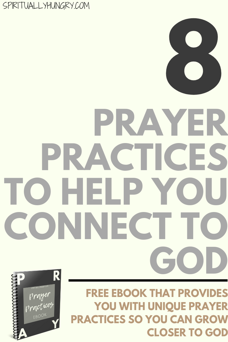 In this free Ebook, you will receive 8 unique types of prayer to implement in your walk right now. There is also space for you to do some planning and answering some questions to help you process the material and apply it to your life.