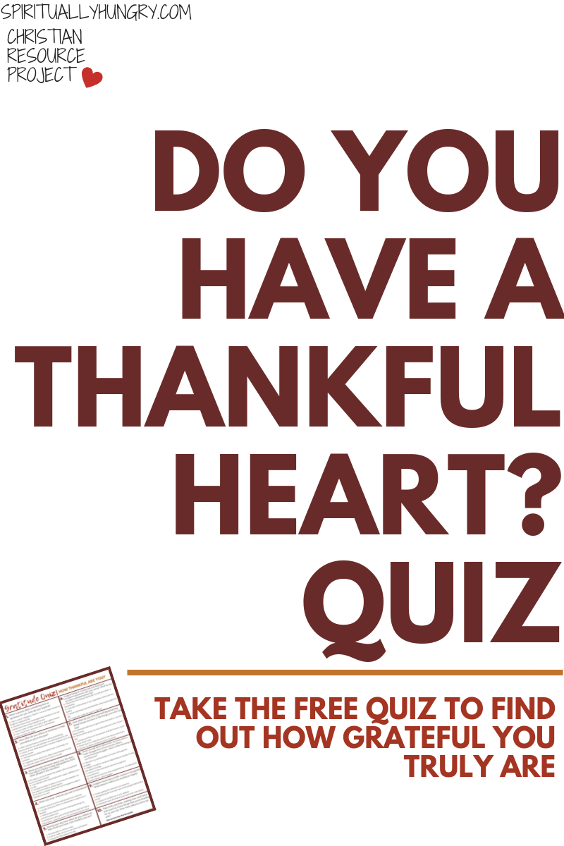 Do you ever wonder how thankful you are? Take this free quiz to find out how much gratitude you foster in your life? A fun way to see where you can grow in becoming more thankful.