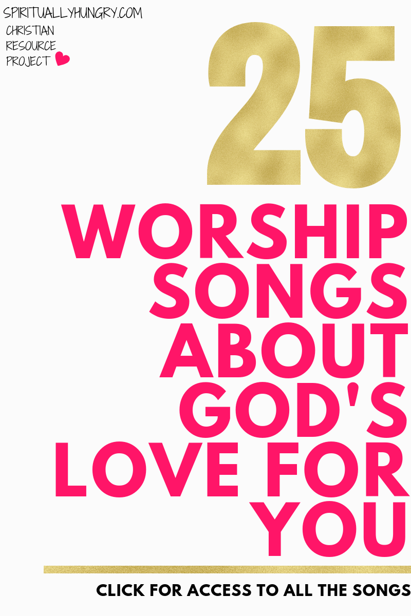 Click to listen to 25 Christian Love Songs About God's Love. Spend some time taking in the immense love that God has for you by listening to these worship songs.