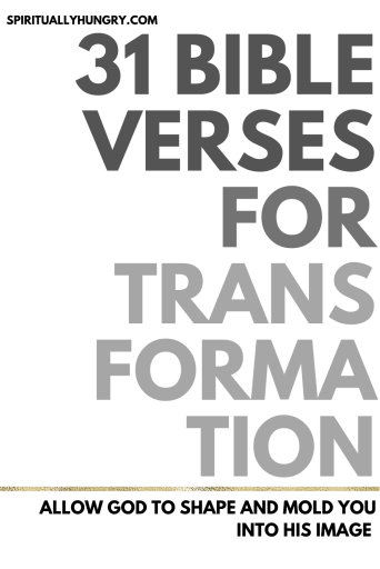 Bible Verses For Transformation | Bible Verses For Change | Scripture For Discipleship