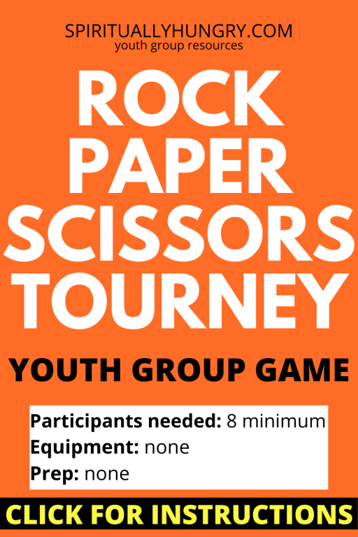 Rock Paper Scissors Tournament Game Instructions | Youth Group Games | No Prep Games