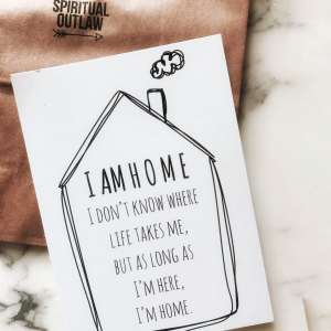 I am home postcard 3
