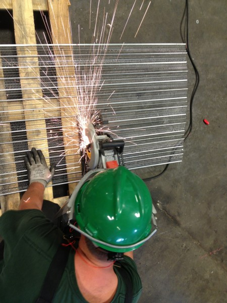 Cutting the metal lath