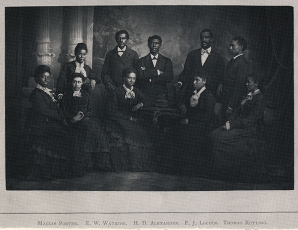 Group photograph of Fisk Jubilee Singers