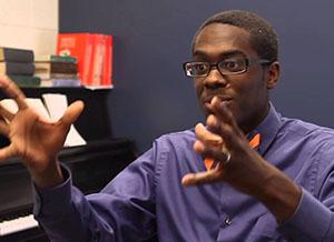 Photograph of composer Shawn Okpebholo