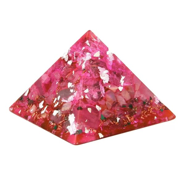 Orgonite de couleur rose