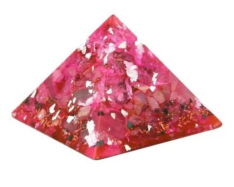Orgonite de couleur rose