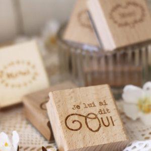 Tampon mariage, merci, je lui ai dit oui, showroom, boutique, mayenne, laval, anjou, angers, saint denis d'anjou, mariage, wedding, spiritus naturae