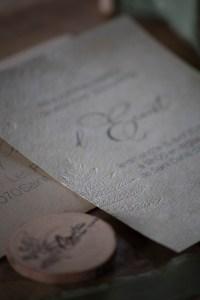 Invitation baptême, nature fougère, papier chiffon, embossage, spiritus naturae-5