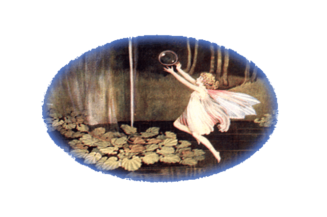 Fairy Holding a Bubble in Nautre