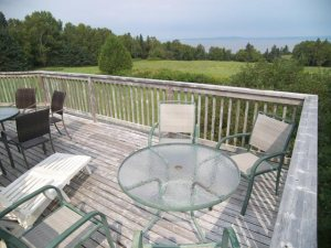 Deck and view of Minas Basin