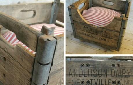 Χρησιμοποιήστε παλιά κιβώτια για να φτιάξετε τα κρεβατάκια των σκύλων σας