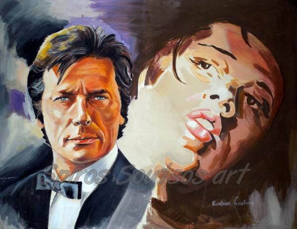 Alain_Delon_painting_movie_poster