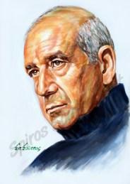 dimitris_mitropanos_portraito_afisa_pinakas_poster_zografia