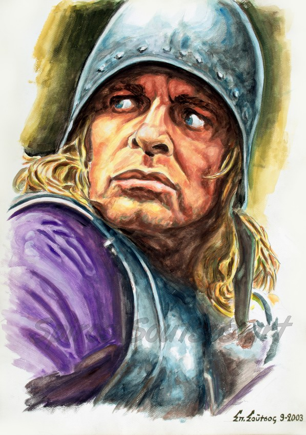 "Klaus Kinski painting portrait ,""Aguirre, The Wrath Of God"" 1972 (Werner Herzog) movie poster"