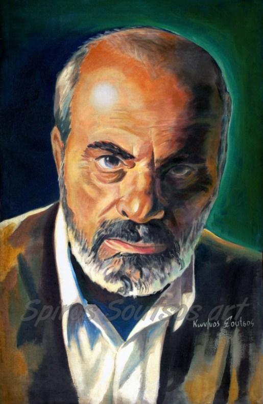stelios_kazantzidis_portraito_poster_painting_afisa