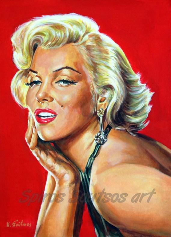 marilyn_monroe_painting_poster_portrait_print_gentlemen_blonds